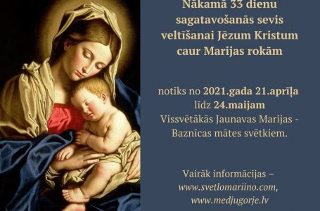 33 DIENU SEVIS VELTĪŠANAI JĒZUM CAUR MARIJAS ROKĀM 21.04 – 24.05.2021