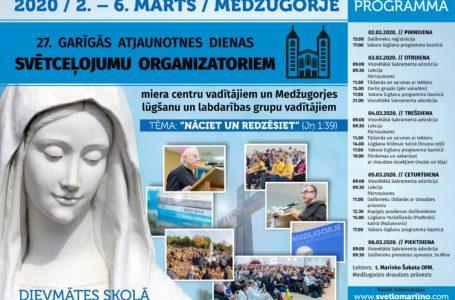 27.Garīgās atjaunotnes dienas svētceļojumu organizatoriem, Miera centru un Medžugorjes lūgšanu un labdarības grupu vadītājiem Medžugorjē